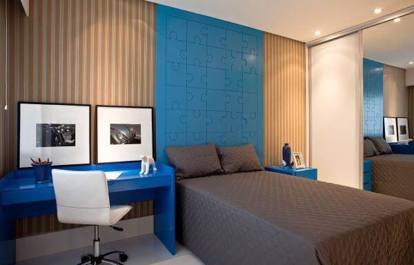 Cores para quarto azul e cinza