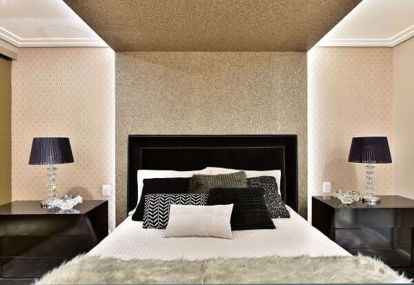 Cores para quarto nas cores preto e branco