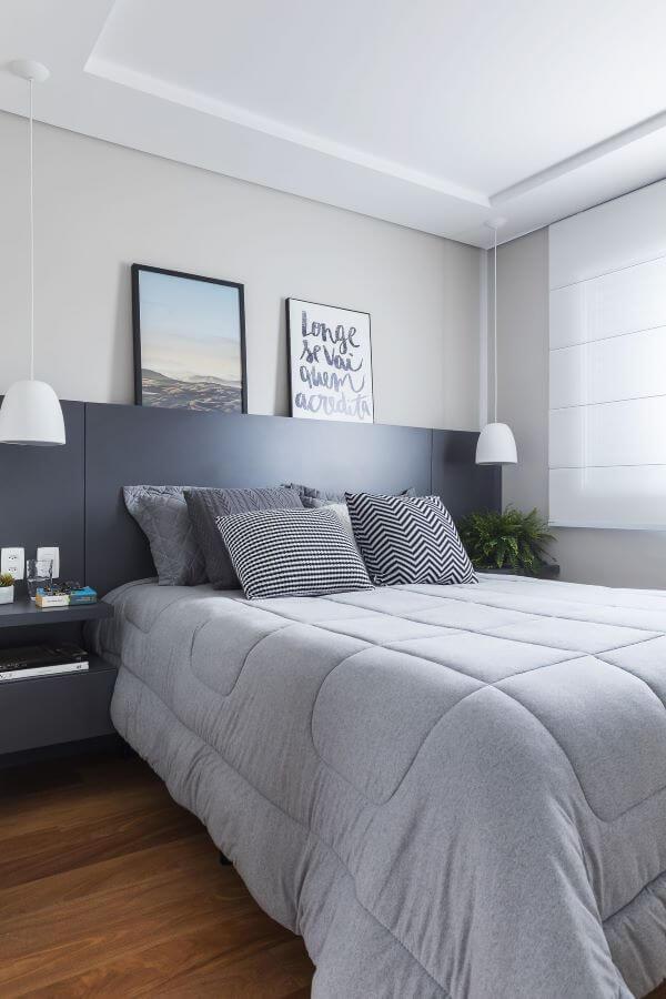 Cores para quarto em tons de cinza
