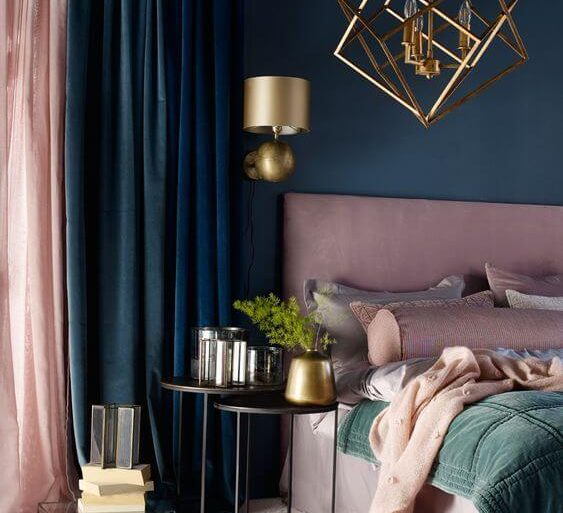 Cores para quarto rosa, azul e verde  - Por: Revista VD