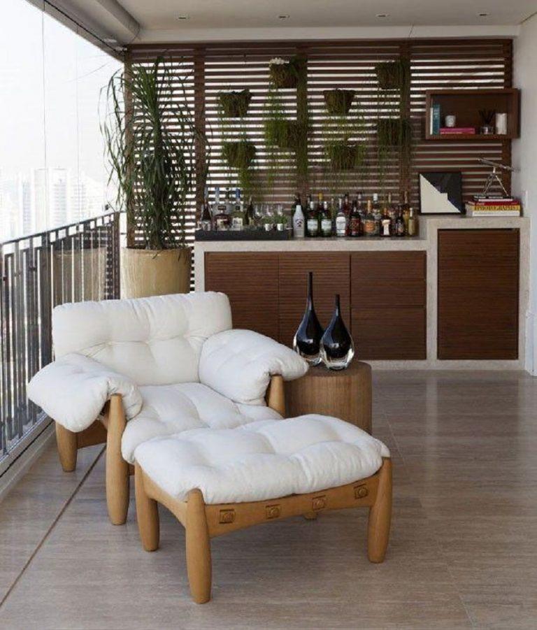 decoração com poltrona confortavel para varanda Foto Diário Decor