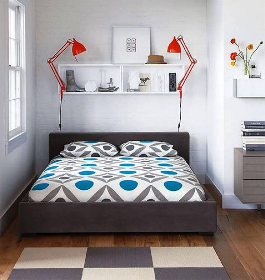 decoração com tapete para quarto com estilo moderno Foto Pinterest