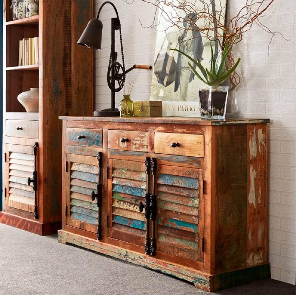 decoração rústica com móveis de decoração