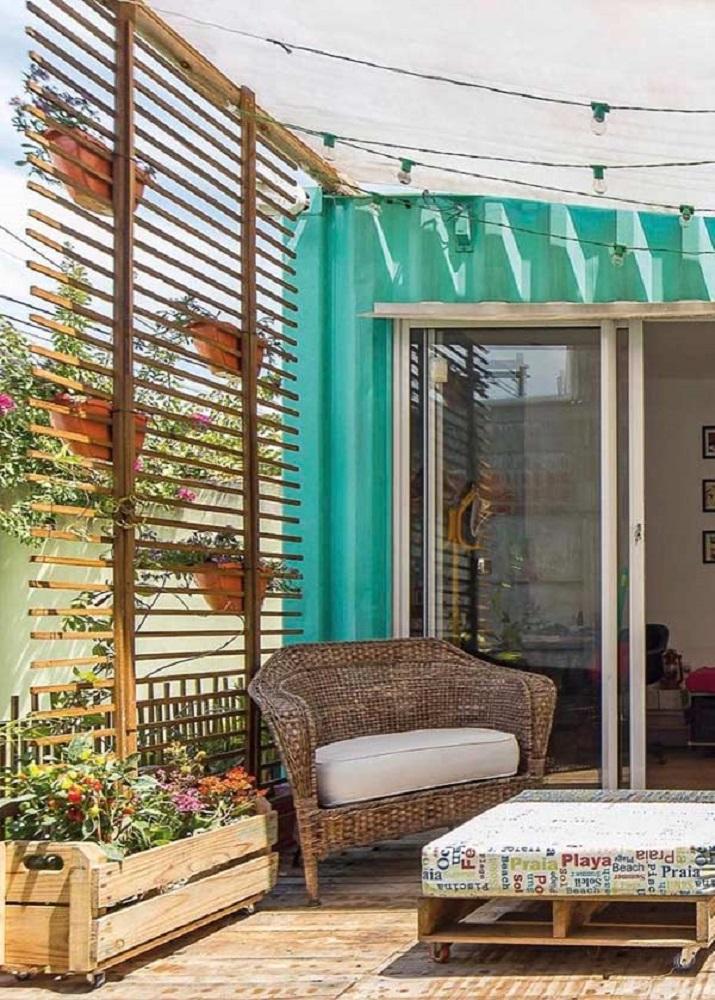 decoração rústica com móveis para área externa Foto Pinterest
