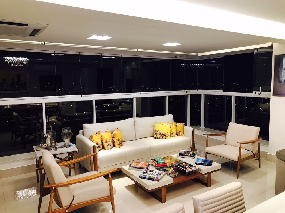 móveis para decoração de varanda super aconchegante Foto Ana Cinthia Lopes
