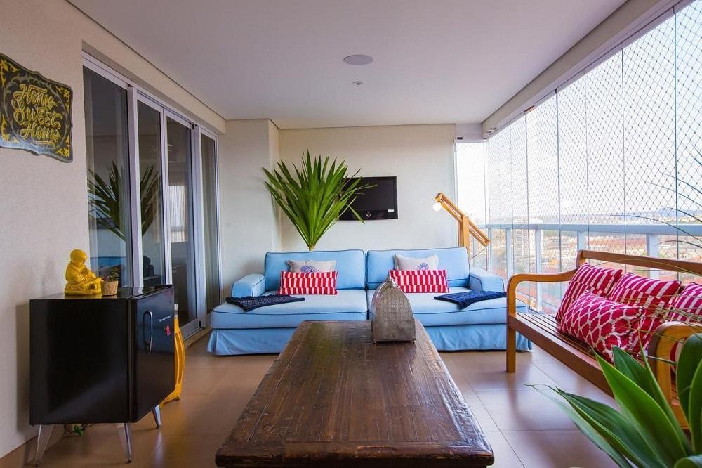 móveis para varanda com decoração simples Foto Paula Russo