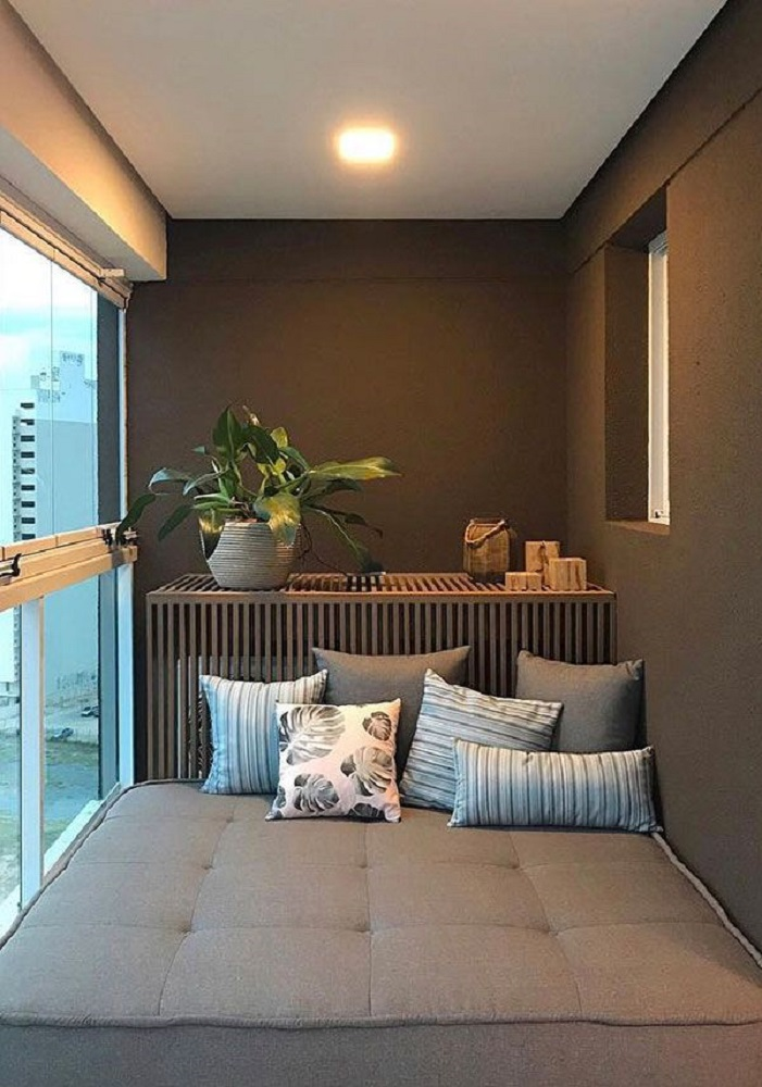 móveis para varanda pequena Foto FirePont