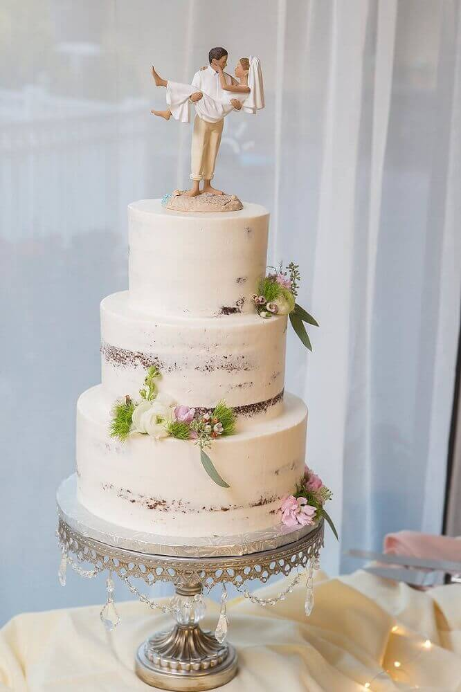 modelo de bolo simples de casamento Foto Marry Me Tampa Bay