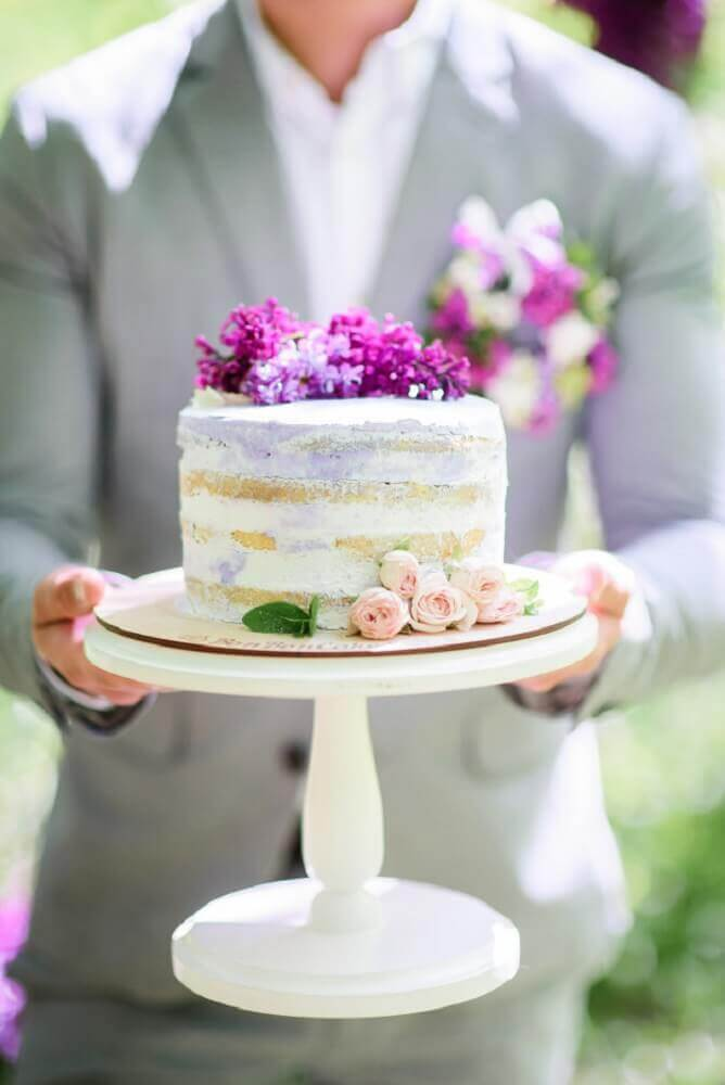 modelo de bolo simples para casamento Foto Wesele z klasą