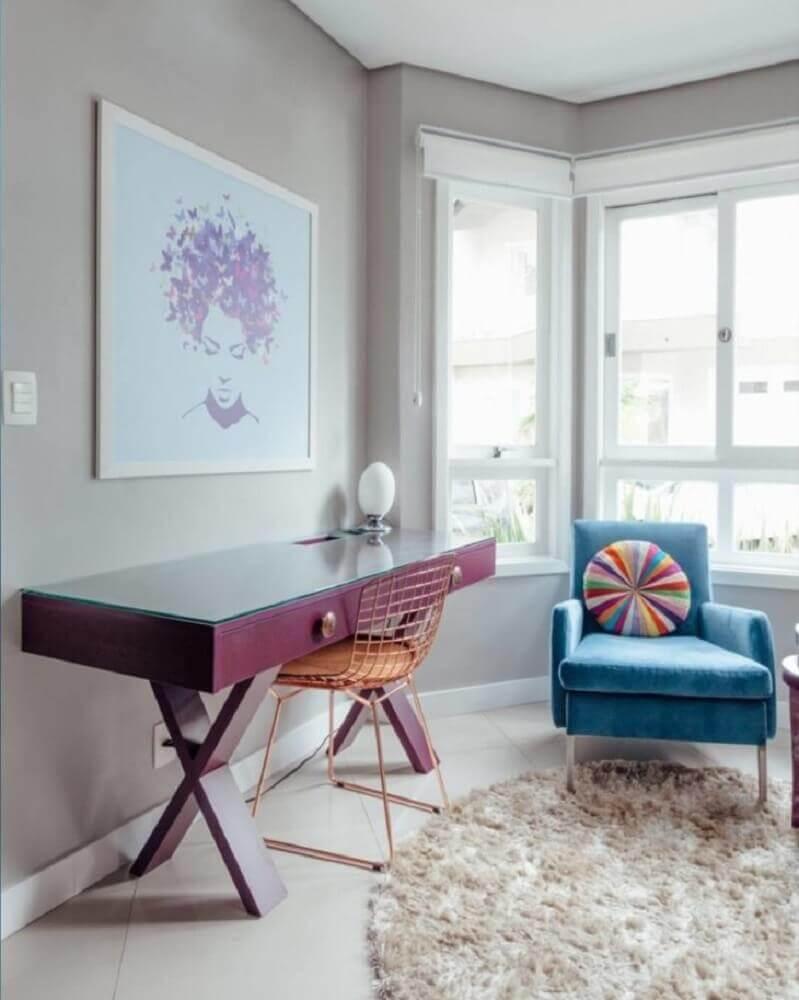 modelo de cadeira aramada na cor rose gold Foto Ambientta Arquitetura