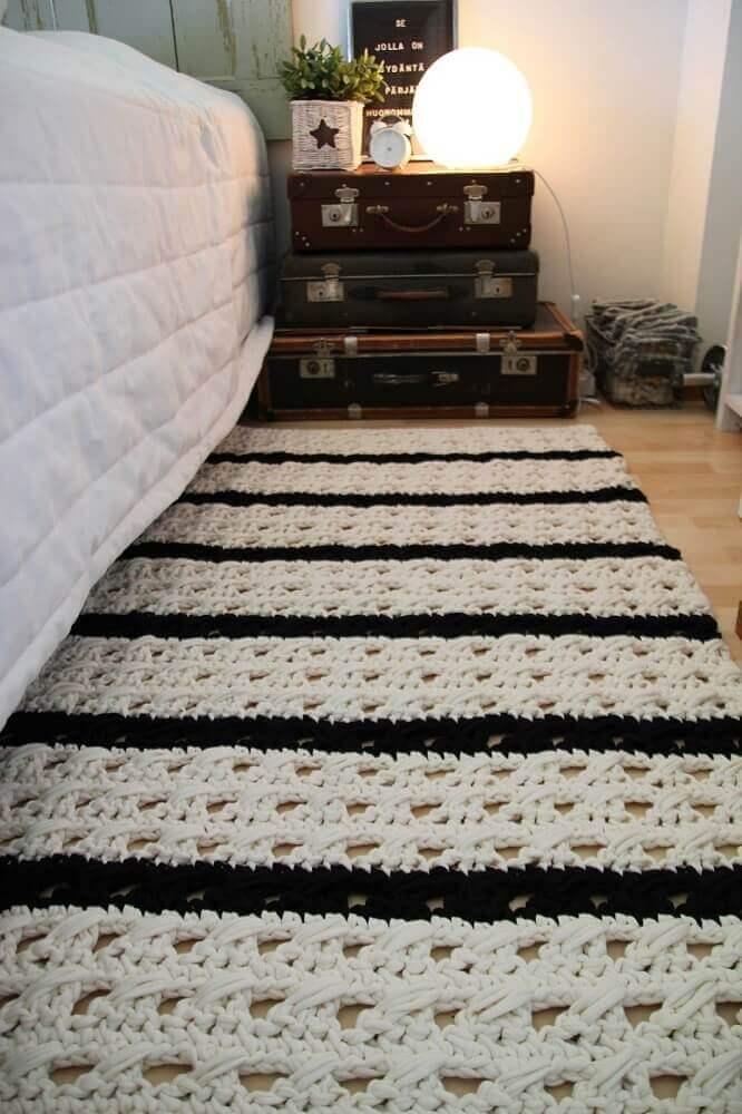 modelo de tapete de crochê para quarto Foto Assetproject
