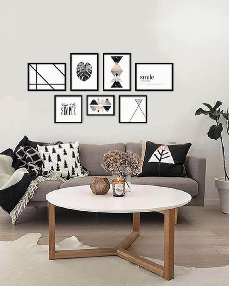 objetos decorativos para sala minimalista Foto Casa e Festa
