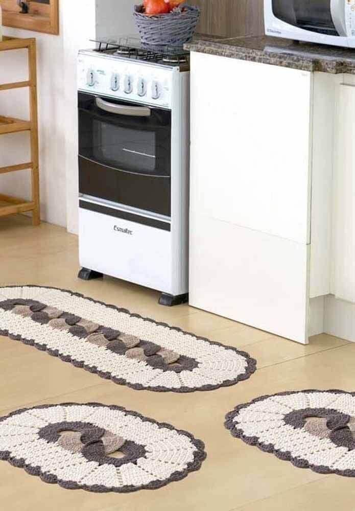 passadeira de crochê para cozinha Foto Pinterest