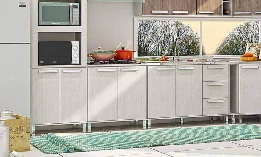 passadeira de croche para cozinha estampa ziguezague Foto LojasKD