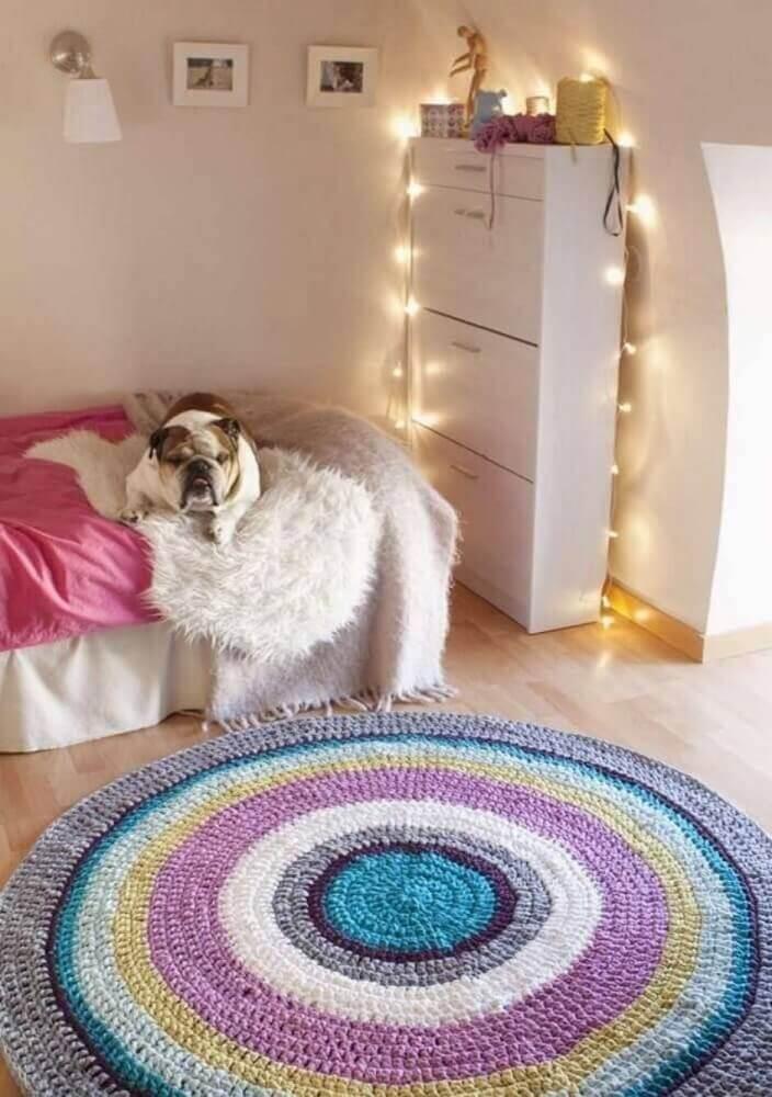 tapete de crochê para quarto Foto Kadin Haber