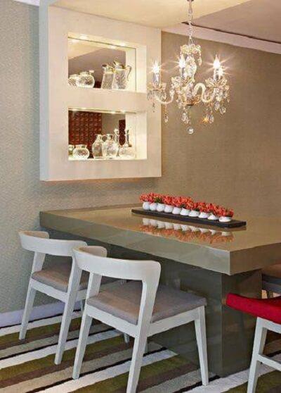 espaços pequenos podem receber lustres para sala menores