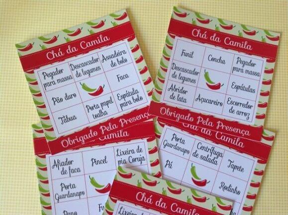 Brincadeiras para chá de panela com bingo Foto de Decor Festa Personalizados