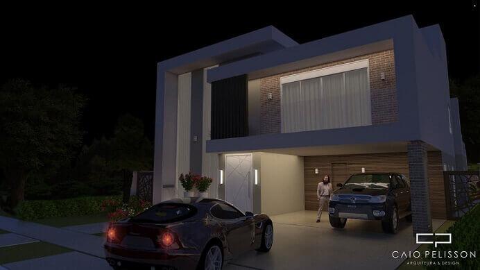 Casa duplex com garagem para dois carros Projeto de Caio Pelisson