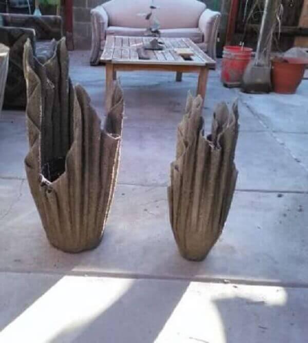 Como fazer vaso de cimento com toalha pode criar peças únicas
