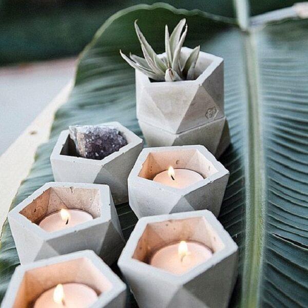 Como fazer vaso de cimento criativo