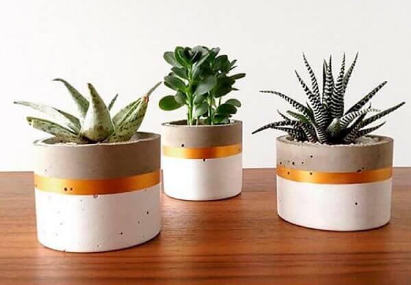 Como fazer vaso de cimento delicado e bonito