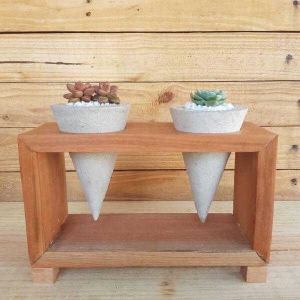 Como fazer vaso de cimento em formato de cone