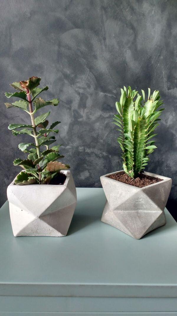 Como fazer vaso de cimento para ambientes internos