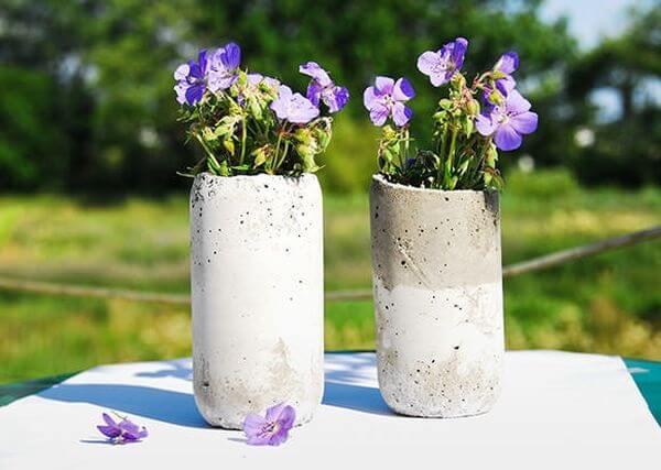 Como fazer vaso de cimento para mesa
