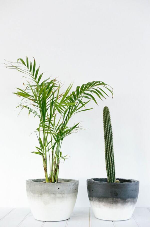 Como fazer vaso de cimento para plantas grandes
