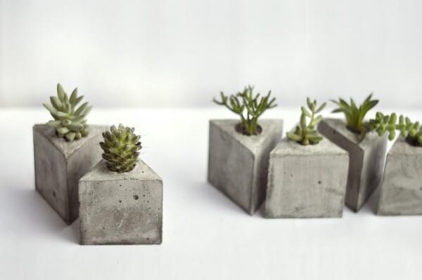 Como fazer vaso de cimento pequenos