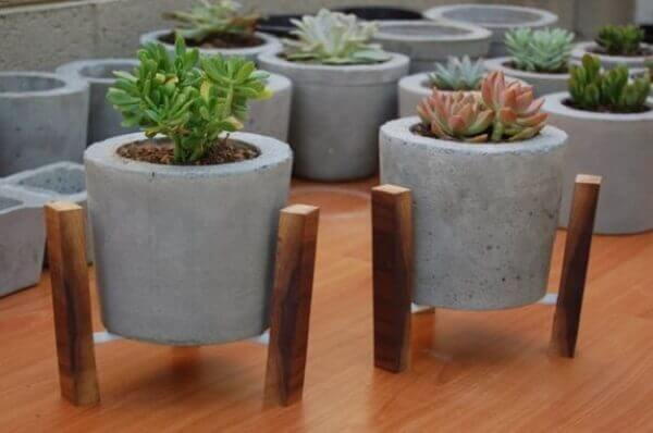 Como fazer vaso de cimento para decorar
