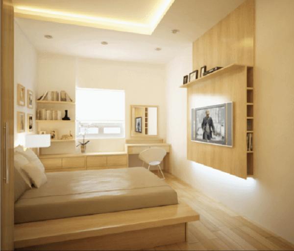 Cor palha decora de quarto de casal