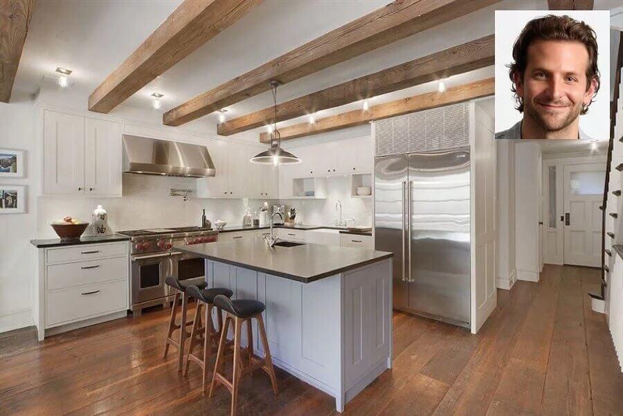 Decoração da cozinha do ator Bradley Cooper