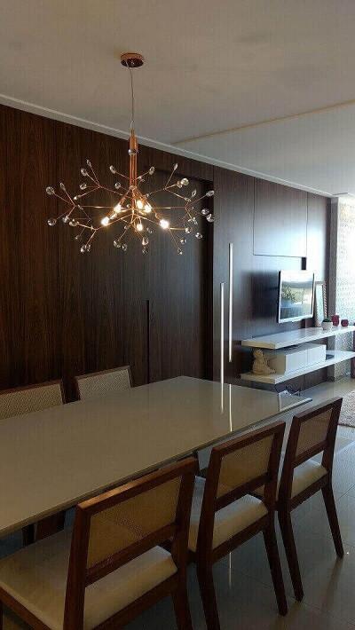 os lustres para sala de cobre deixam o ambiente moderno