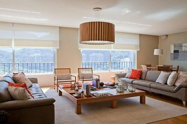 lustres para sala feitos de madeira