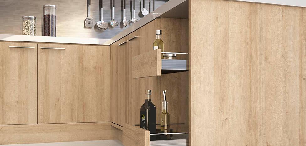 Móveis de madeira clara na cozinha Foto de Duratex Madeira