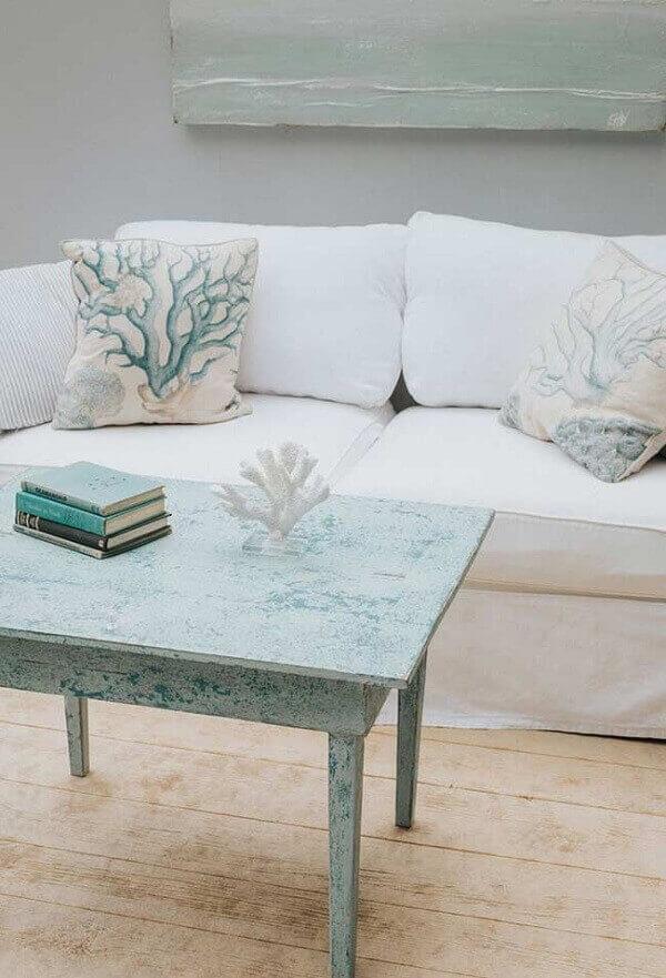 Mesa de centro com pátina