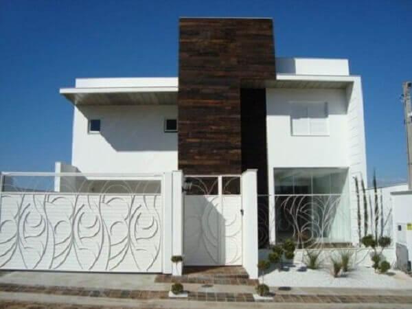 Muros modernos com grades