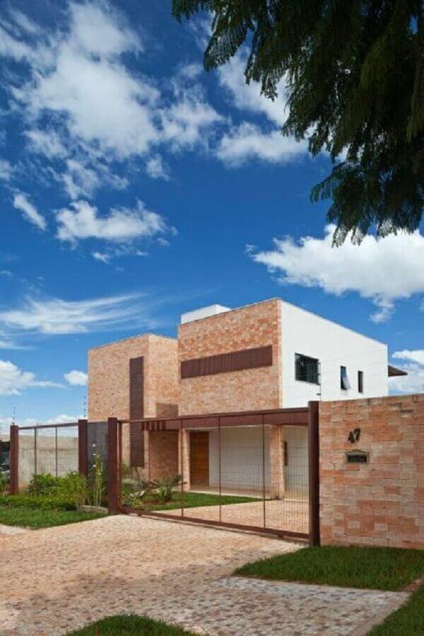 Muros modernos com tijolinhos