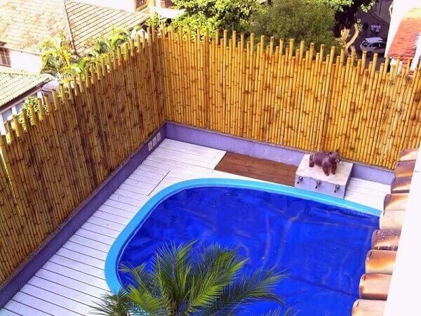 Muros modernos de bambu