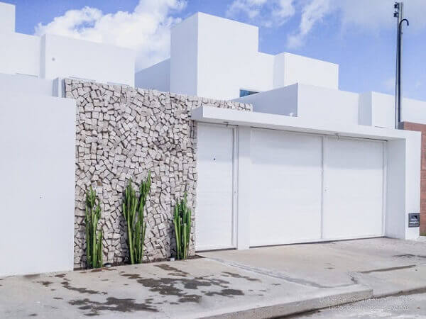 Muros modernos em residencia