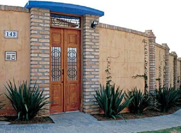 Muros modernos em residencias