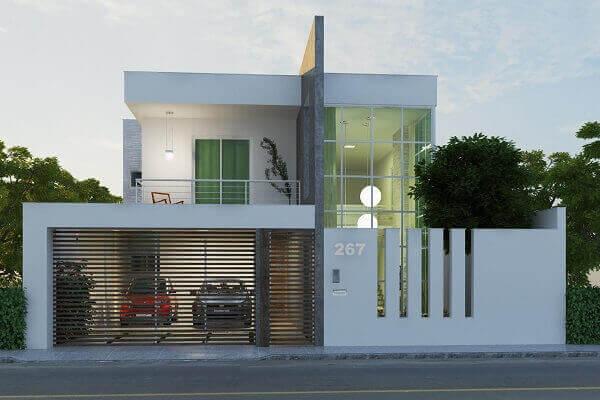 Muros modernos residencial com grades