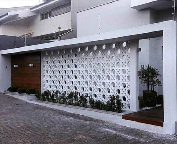 Muros modernos vazados