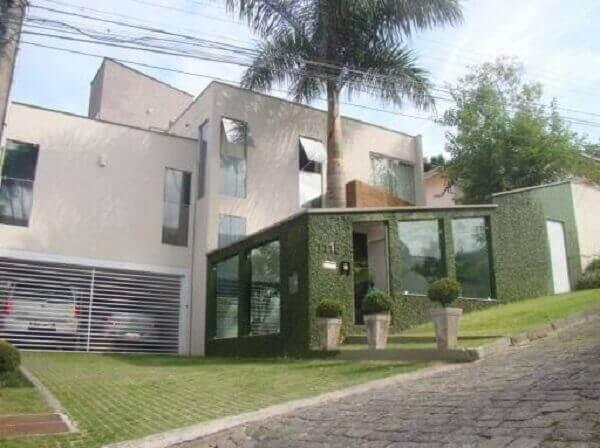 Muros modernos verde com vidros
