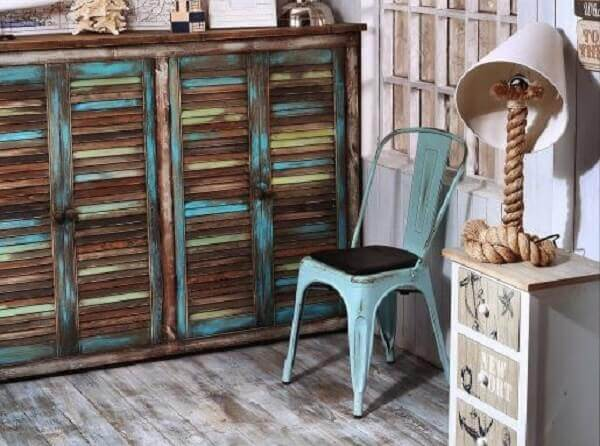Pátina é utilizada na decoração de dormitório