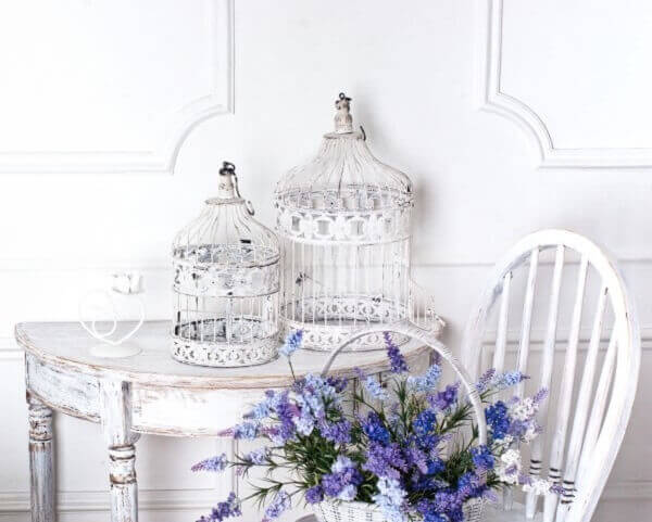 Pátina branca leva a um visual romântico