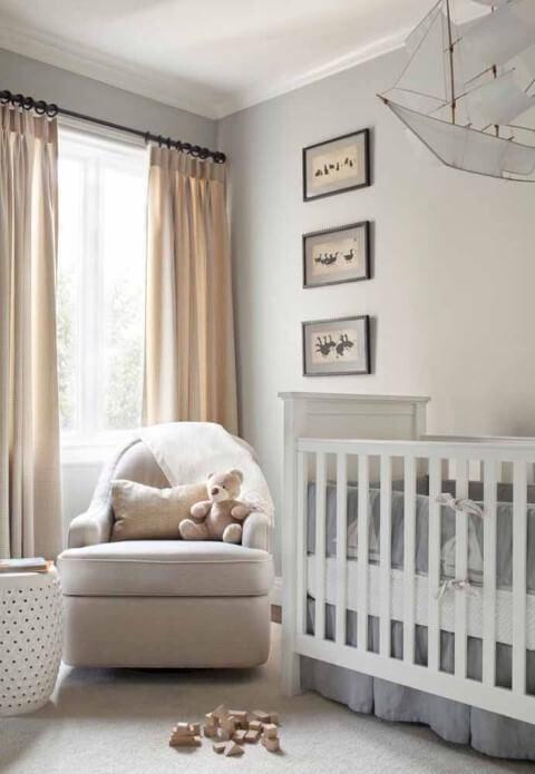 Quarto de bebê menino com cores neutras Foto de Pinterest