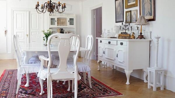 Tapetes para sala de jantar clássico