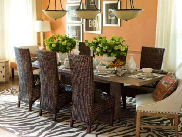 Tapetes para sala de jantar grande